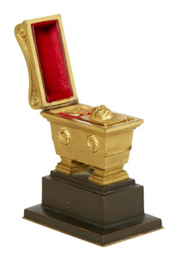 C de Franoz - French Gilt-Bronze Seal Stand Model of Napoleon Tomb